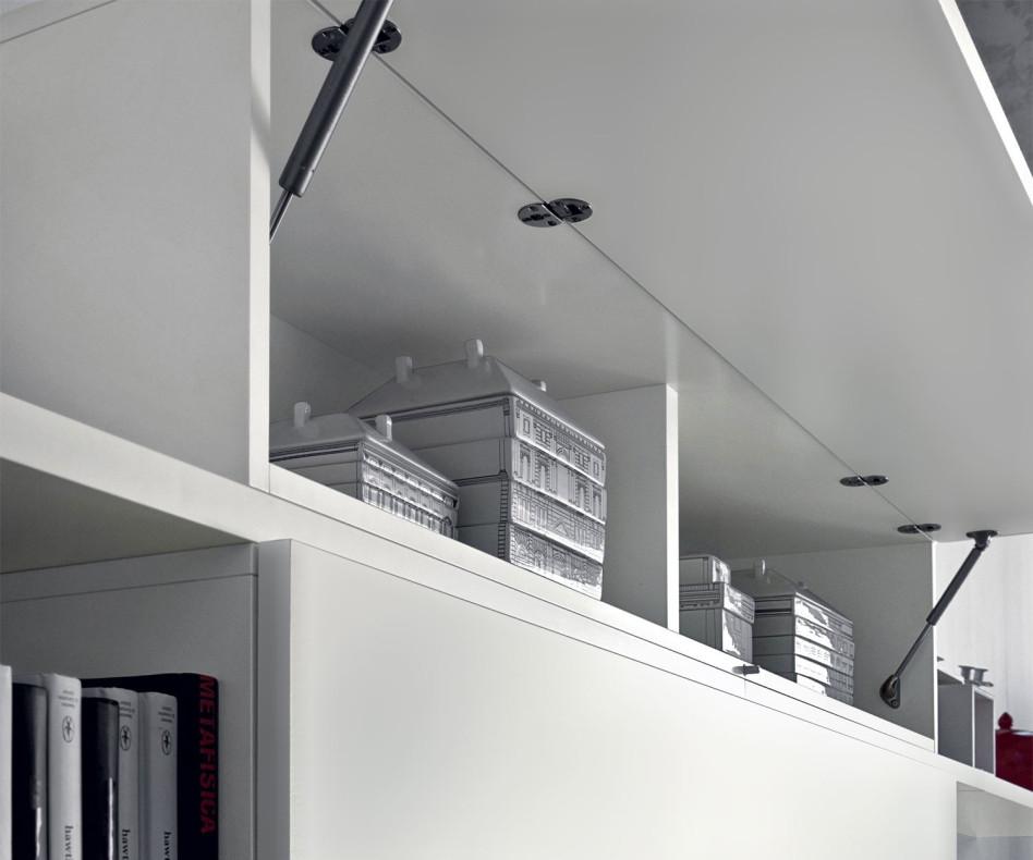 Hochwertige Design Wohnzimmer Hängeschränke Hochglanz in Weiß