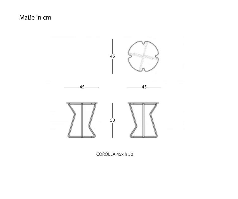 Runder MEME Design Beistelltisch Corolla