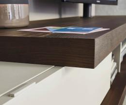 Hochwertige Livitalia Design Wohnwand C52 Säulen mit TV Halterung im Detail