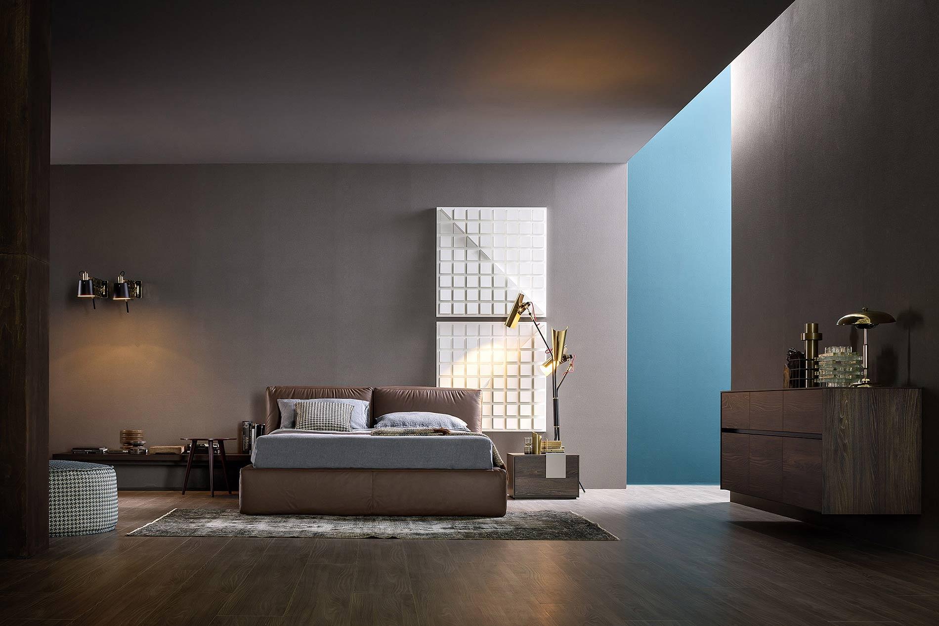 Dunkles Luxus Design Schlafzimmer