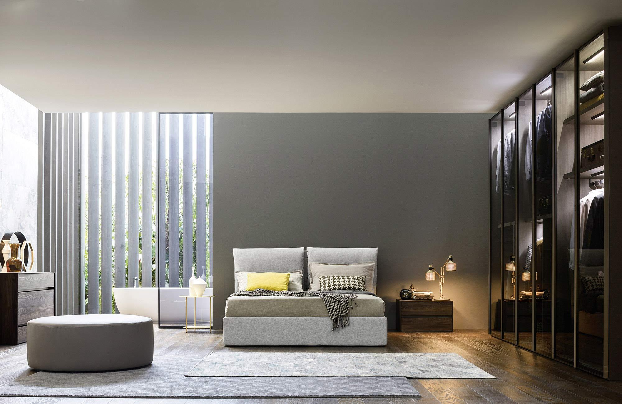 Luxus Schlafzimmer Glaskleiderschrank