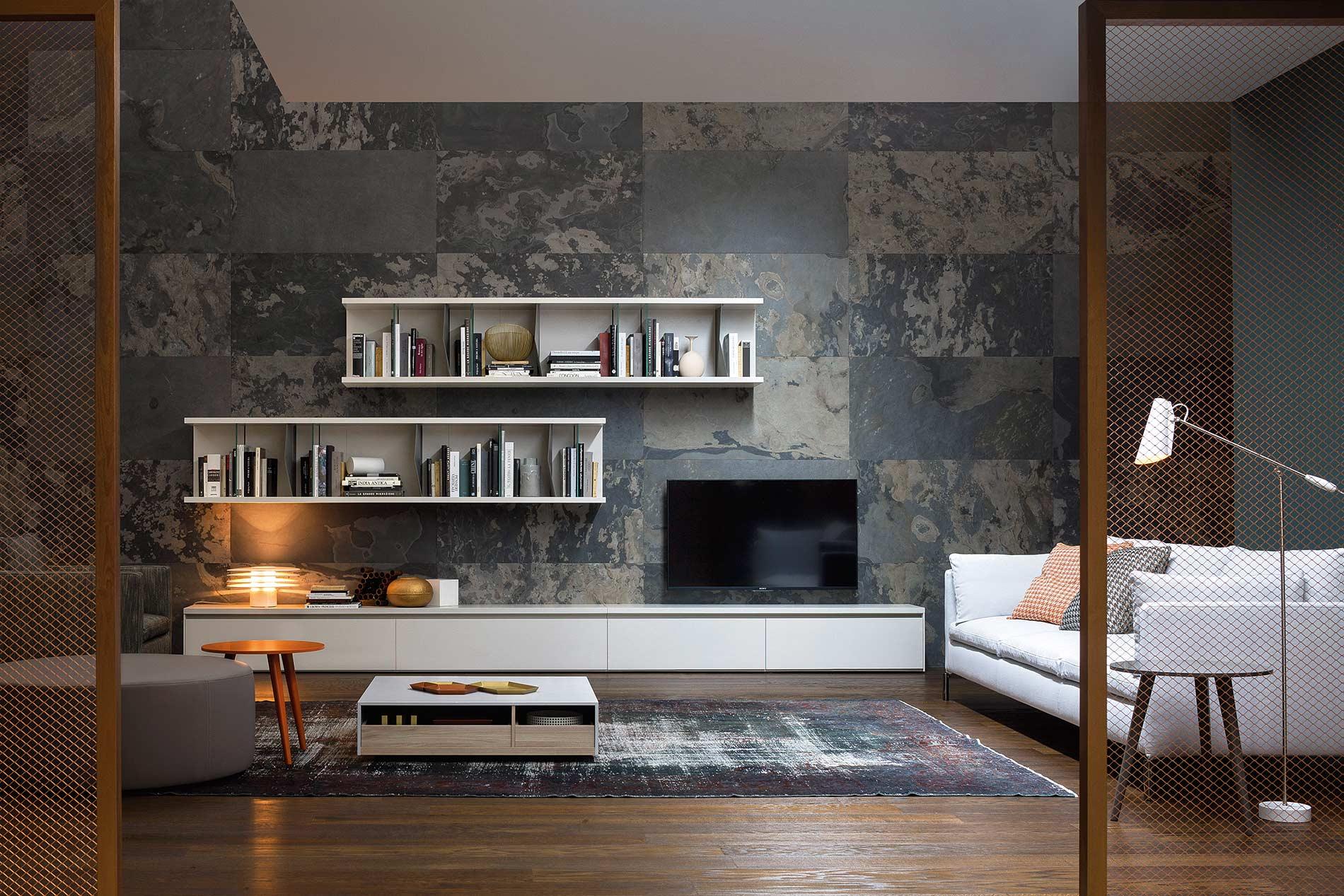 Luxus Wohnzimmer Mit Design TV Lowboard