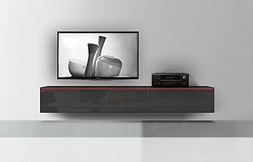 h ngende lowboards 120 300 cm breite in 30 farben. Black Bedroom Furniture Sets. Home Design Ideas