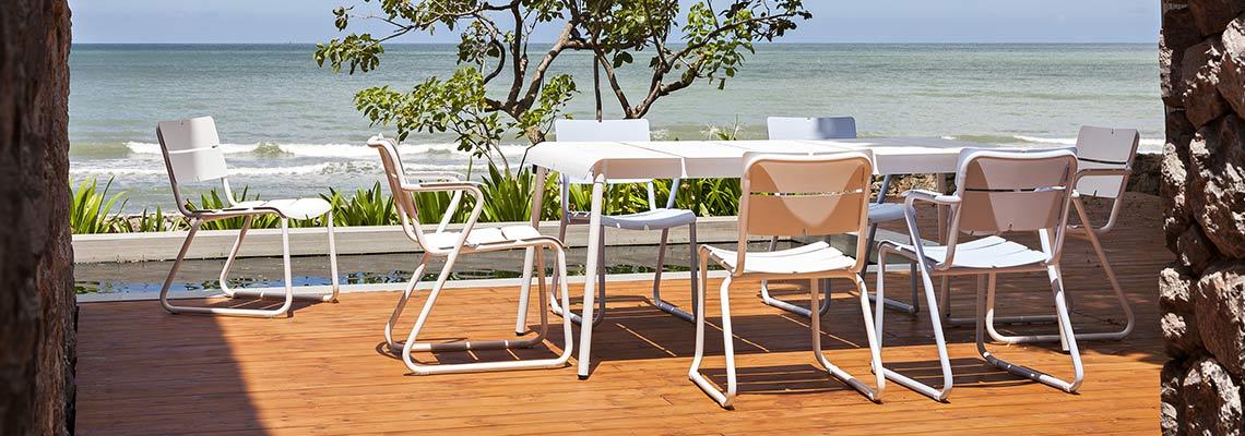 Design Gartenmöbel ® aus Teak Edelstahl oder Aluminium