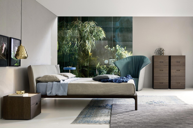 Schlafzimmer Einrichtung Trend Bett Minimalistisch Parkett: Schlafzimmermöbel Aus Holz Natürliche Materialien Liegen