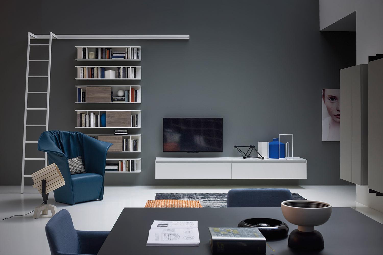 b cherregal mit leiter sind wieder im trend jetzt lesen. Black Bedroom Furniture Sets. Home Design Ideas