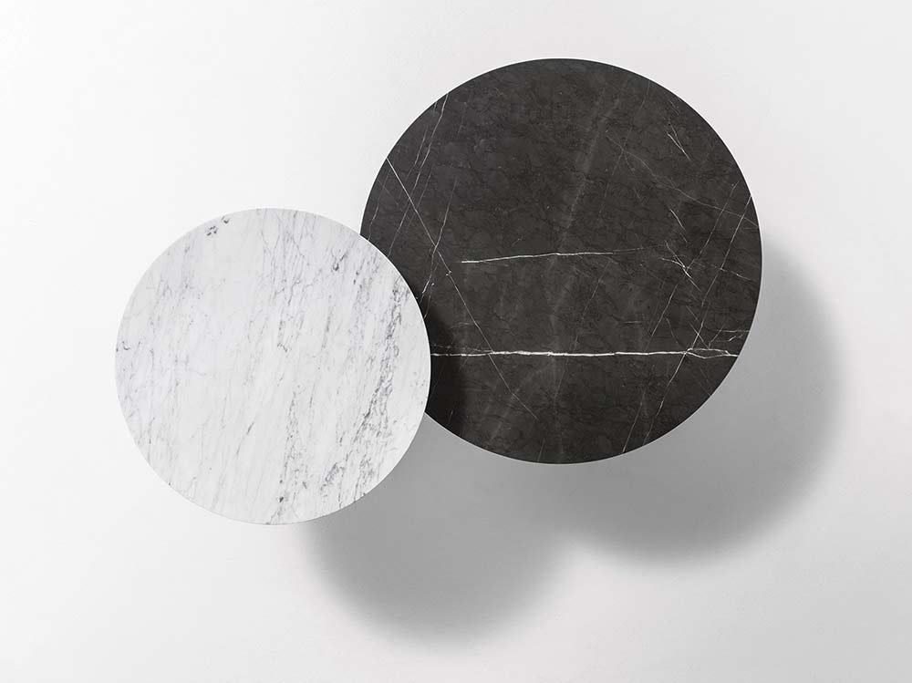 Marelli Couchtisch Tab Carrara Marmor