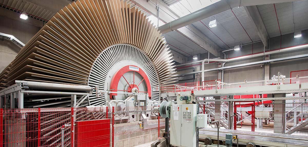 Spanplattenproduktion Pfleiderer Holzwerkstoffe GmbH