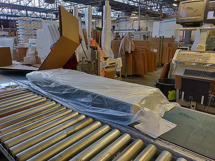 Möbel werden verpackt