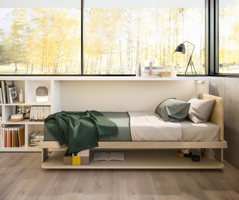 Das Clei Kali 90/120 Schrankbett mit Schreibtisch ist ein multifunktionales Möbelstück für Kinder